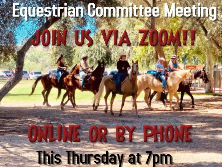 Equestrian Committee Meeting 4.8.21 at 7pm